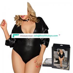 Wholesale Fat Woman Black Sexy Teddy Lingerie