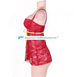 Wholesale Paypal Accept Dark Red Women Sexy Babydoll Chemise Lingerie