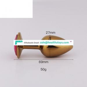 Wholesale Stainless Steel Metal Anal Butt Plug Heart Design Small Anal Lock Butt Plug Ass Lock Women Sex Toys
