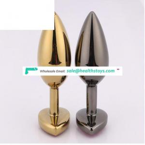 Wholesale Stainless Steel Metal Anal Butt Plug Heavy Aluminium Alloy Metal Material Anal Plug Sex Toys