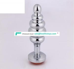 Wholesale Stainless Steel Metal Anal Screw Butt Plug Matched with Anal Plug Tail with Aluminium Alloy Material Large Size