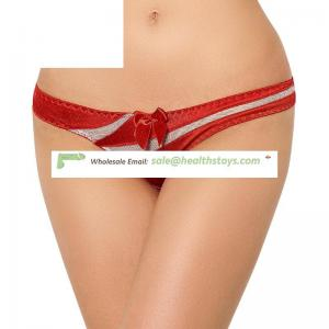 Wholesale Striped red women sexy underwear