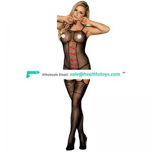 Wholesale Top Quality Cheap Sexy Girl Fishnet Black Bodystocking