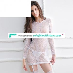 Wholesale good quality in stock long sleevesexy lingerie in dubai