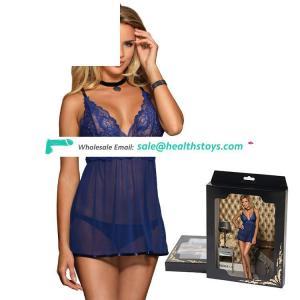 Wholesale hot black mesh transparent  babydoll sexy lingerie