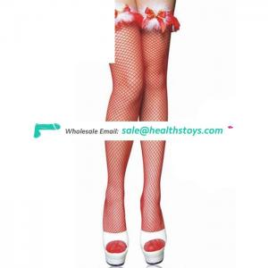 Wholesale hot sale in stock beautiful sex red leg wear girl stocking