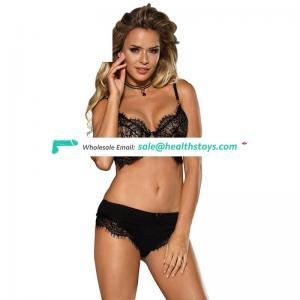 Wholesale lace ladies sexy net bra sets sexy bra panty set