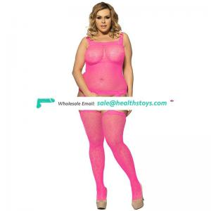 Wholesale paypal accept pink patterned sexy fishnet bodystocking