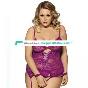Wholesale plus size sexy lace teddy lingerie bodysuit