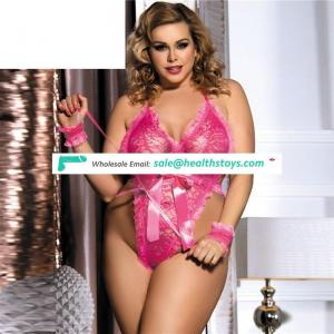 Wholesale two color plus size  bodysuit sexy lace lingerie