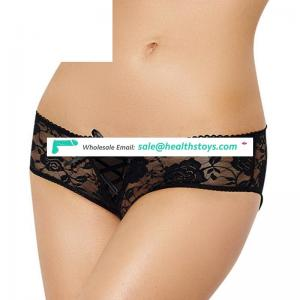 Wholesale woman wearing sexy open crotch panties