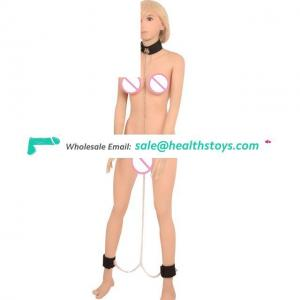 Women Bed Restraint Leather Fetish Club Wear With Long Collar Leash For Couples