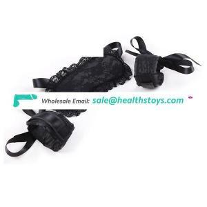 Women Black Lace Eye mask and Restraint Handcuffs Sets