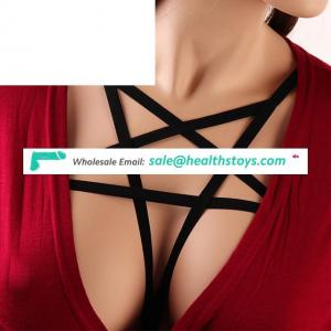 Women Fashion Club Party Wear Lady Pentagram Chest Body Harness Cage Bra