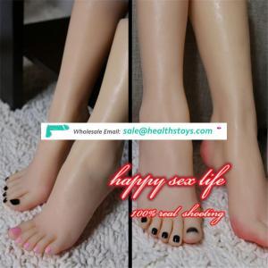 allibaba com New Japanese realistic lifelike TPE silicone feet male masturbator foot sex toy for man