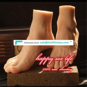 china suppliers New Japanese realistic lifelike TPE silicone feet male masturbator foot sex toy for man