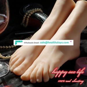 com china New Japanese realistic lifelike TPE silicone feet male masturbator foot sex toy for man