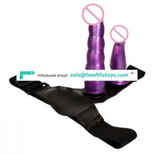 double dildo lesbian toys strap on dildo with belt for girl vagina