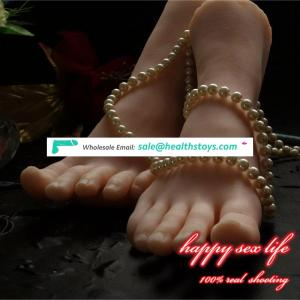 dropshipping New Japanese realistic lifelike TPE silicone feet male masturbator foot sex toy for man