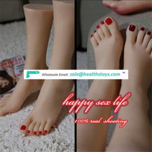 hot sale New Japanese realistic lifelike TPE silicone feet male masturbator foot sex toy for man