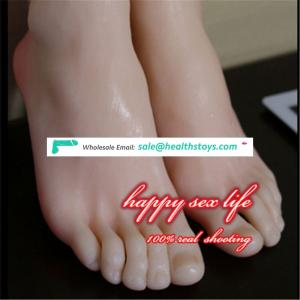 online shopping New Japanese realistic lifelike TPE silicone feet male masturbator foot sex toy for man