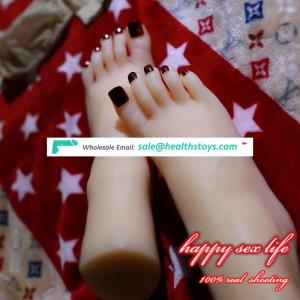 sexy lingerie New Japanese realistic lifelike TPE silicone feet male masturbator foot sex toy for man