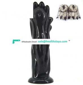 10 Inch Wholesale Bear Claw Shape Extreme Stimulate Anus For Women G-Spot Dildo Erotic Products Bdsm Sex Toys For Pussy and Anal