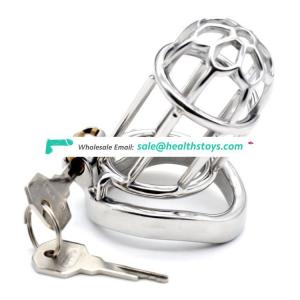 2019 FRRK10A sex shop FRRK brand 9cm long chastity cage with penis ring chastity lock stainless steel chastity cage