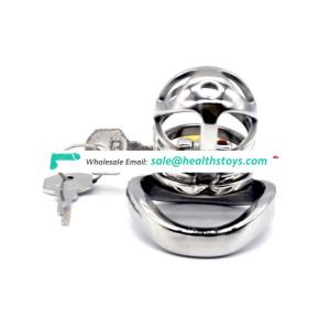 40/45/50mm Bird Cage Male Chastity Device Stainless Steel Cock Ring metal cock cage penis lock cock cage sex toy for adult games