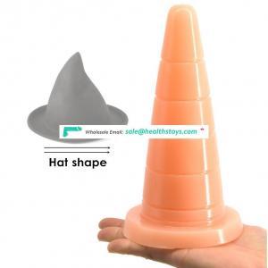 8'' FAAK 037 Amazon Hot Sale Wholesale Erotic Toys Hat Shape Anal Plug Faak Fetish Butt Plug Toys Sex Adult For Women