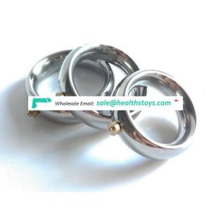 Big Middle Small Delay Ejaculation Sex Toy Magnetic Penis Metal Cock Ring
