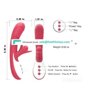 Double Motor Wireless Masturbation Massage Stick Female Sex Toy Dildo Vibrator