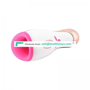 Electric Lick Suck Automatic Oral Sex Machine Cup Vibrating Intelligent Heating Sex Toy Realistic Electric Male Masturbator