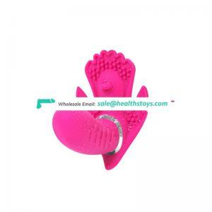 Exquisite workmanship sex toys long thin pink vibrator dildo for women