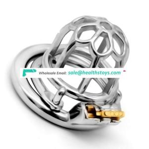 FAAK  5.1cm stainless steel chastity lock cage  penis cock cage for male chastity device metal chastity cage for male sm sex