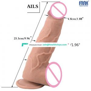 FAAK 007 unisex high fidelity phallus masturbation butt plug versed in mouth adult products
