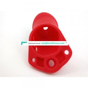 FAAK 10cm*3.8cm Red penis lock chastity cage with silicone  keyholder chastity Male chastity device sex shop