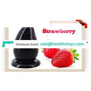 FAAK 12.5cm*7.5cm Strawberry fruit shape penis dildo  butt plug sex toys anal