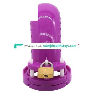 FAAK 12.7cm plastic chastity cage with keyholder chastity device for male lock penis cage chastity  cage for male