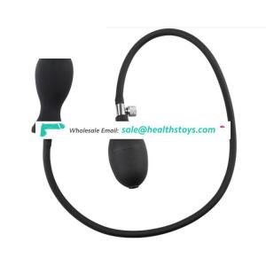 "FAAK 12cm 4.7"" 3.5cm dilator stimulator sex toys plug silicone huge pump prostate massage inflatable anal toys expansion for men"
