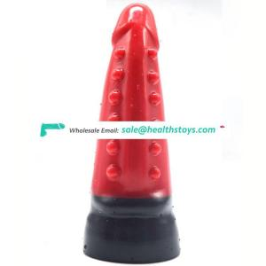 "FAAK 18.5cm 7"" dia 5.5cm realistic thread bumpy anal butt plug huge sex toys big silicone dildo for Women sex toy"