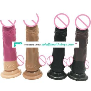 """FAAK 19cm 7.48"""" dia 3.8cm slim anal butt plug dildo black lifelike soft flexible body safe silicone realistic dildo for sex shop"""