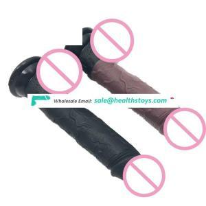 FAAK 19cm 7.48inch dia 3.5cm artificial anal plug penis safe silicone realistic soft flexible lifelike sex male dildo for women