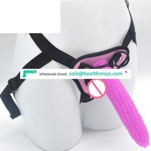 FAAK 19cm Corn shape dildo anal plug  Lesbian sex toy strapon dildo pants penis with belt sex toy for lesbian