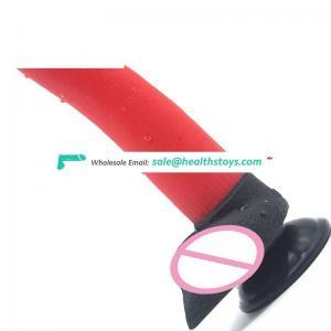 FAAK 20.3cm Red animal dildo banana shape dildo anal rubber penis butt plug sex  toys anal for men and women