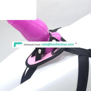 FAAK 21.9cm  lesbian sex toys harness strapon with anal with pants butt plug sex toys anal penis with belt sex toy for male