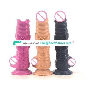 FAAK 21cm thick big pussy vegina silicone rubber penis wholesale sex toys dildos for women realistic animal dildo