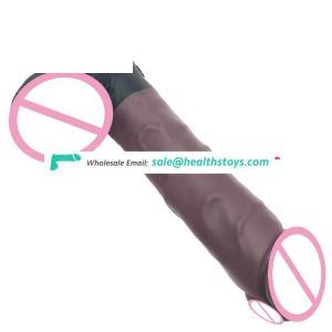 "FAAK 22cm 8"" 4.2cm silicone butt plug big anal toys soft flexible realistic lifelike coffee adult sex toys for sexual pleasure"