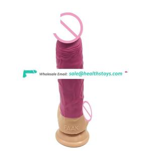 "FAAK 23.5cm 9.25"" 4.5cm body safe soft lifelike silicone dildo realistic flexible anal plug sex shop pink sex toy dick for women"