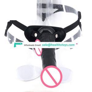 FAAK 23.5cm Lesbian sex toy dildo pants bondage sex toys dildo with belt strapon dildo for lesbian